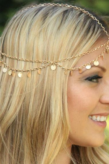 SEQUINS TASSELS CHAIN HEADDRESS QZ1027EI