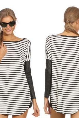 STRIPED LONG-SLEEVED T-SHIRT MN1031BH