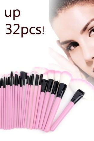 32 Pcs Makeup Brush Set Cosmetic Pencil Lip Liner Make Up Kit Holder Bag Pink B3V72PDAVCWR7VZU01M94 XP8FC41E8DX