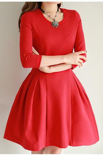 Luxury Designer Long Sleeve Dress For Autumn&Winter ( 3 Colors)