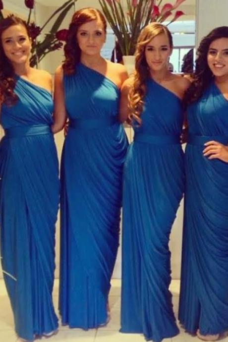 Sweetheart Long Blue Bridesmaid Dresses ,Blue Bridesmaid Dresses,Simple Prom Dress,Party Dress For Formal,Dress For Prom,Prom 2015, Wedding Party Dresses,