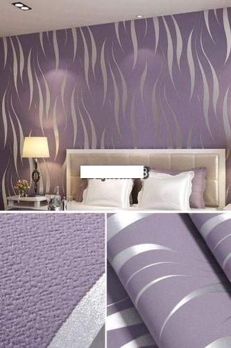 Natural Roll 3D Embossed Flocking Waves Wallpaper