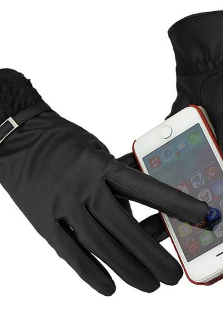 Women Casual PU/Wool Gloves for 2015 winter