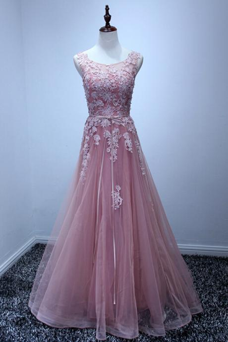 Custom Made Long Lace Prom Dress, Evening Dress, Lace Prom Dress, Lace Party Dress