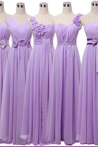 Good New Purple Evening Party Prom Dress Bridesmaid Wedding Long Dress