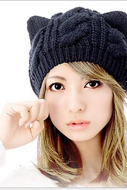 Cute Girls Braided Hair Angle of Small Demon cat Ear Protection Ear Caps for 2015 winter