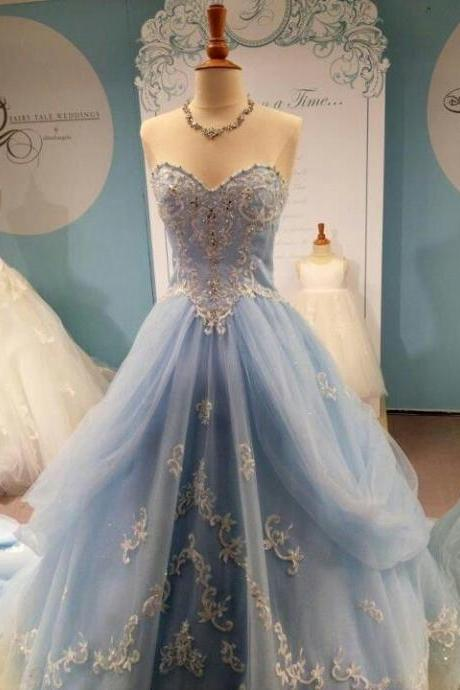 Wedding Dresses,Blue Wedding Gown,Tulle Wedding Gowns,Elegant Bridal Dress,Modest Lace Wedding Gown For Fall Winter Weddings