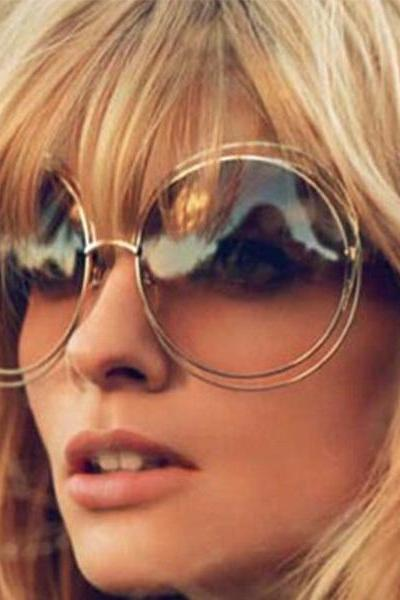 High Quality Elegant Round Wire Frame Sunglasses 2015 New Fashion Women Sun glasses Shades Oversized Eyeglasses Oculos de sol