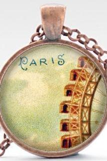 Grande Roue de Paris Necklace, Paris Jewelry, Ferris Wheel Pendant, Paris