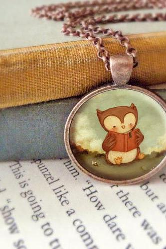 Owl Pendant, Owl Necklace, Owl Jewelry, Owl Animal Necklace, Animal Jewelry