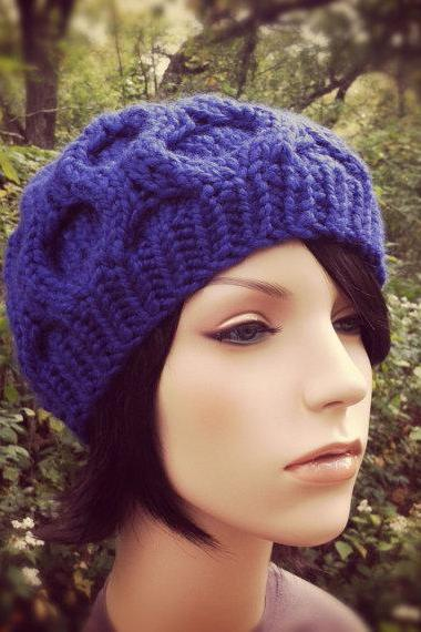 Chunky Morel Hat - Iris - MADE TO ORDER