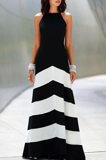 Gorgeous Black and White Maxi Dress