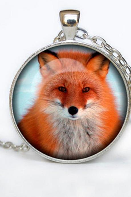 Fox pendant Fox necklace Fox jewelry nature necklace