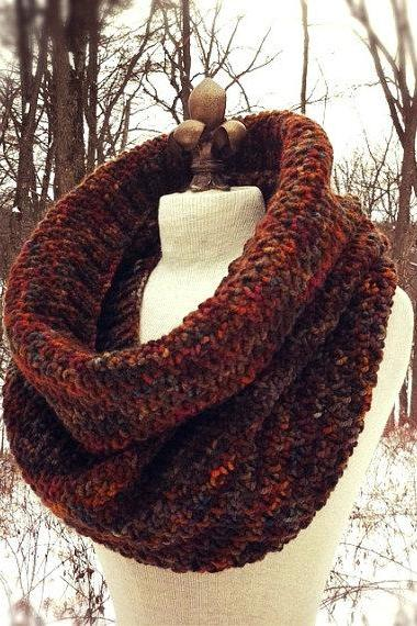 Hand-painted Wool Giant Cowl - Mother Earth Multicolor