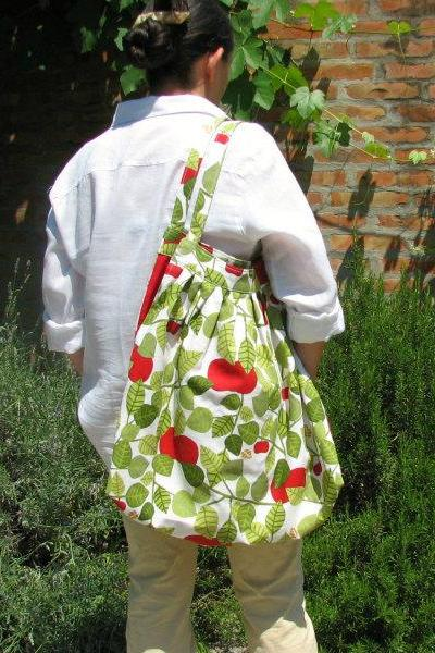 Big bag - An apple a day - design fabric