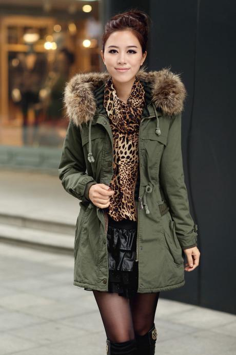 Army Green Women Jacket Women Coat