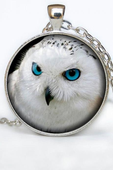 OWL PENDANT owl necklace White owl Jewelry Necklace for her Art Gifts for Her