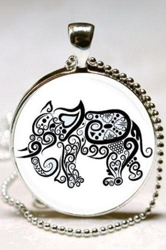 Elephant Necklace, Elephant Jewelry, Wildlife, Nature, Safari Animals