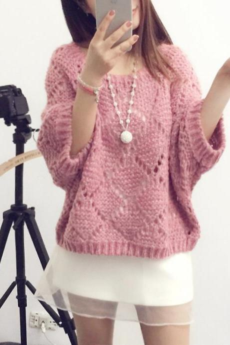 Fashion Hollow-Out Sweater