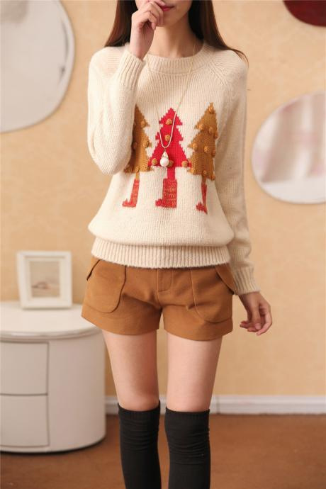 3D Balls Christmas Tree Pullover Sweater