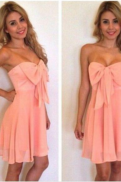 Sweatheart neck prom dress,homecoming dress,short prom dress,beautiful chiffion short dress L310