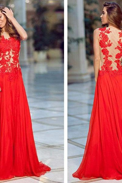 long prom dress, red prom dress, lace prom dress, modest prom dress, cheap prom dress, party prom dress, long evening dress, 14965