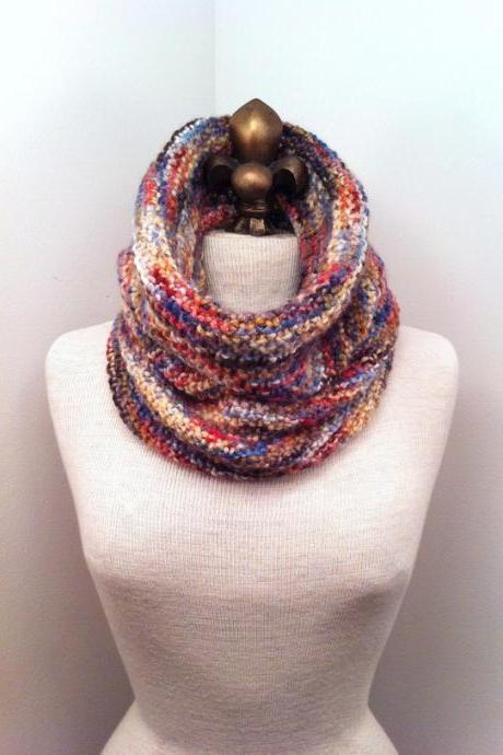 Baby Alpaca Cowl - Foxtail Multicolor - MADE TO ORDER