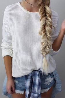 LOOSE ROUND NECK LONG-SLEEVED KNIT SWEATER