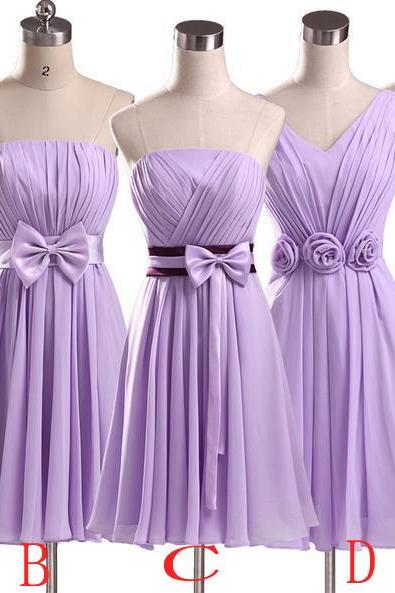 Nice Purple Evening Party Prom Dress Bridesmaid Wedding Dress