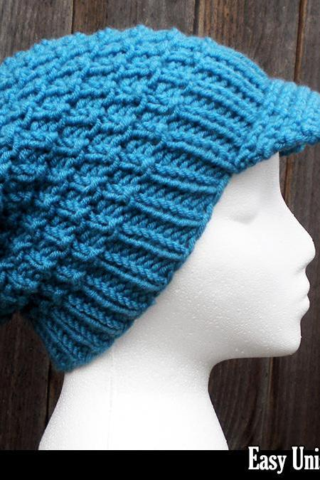 Easy Unisex Slouchy Hat Knitting Pattern