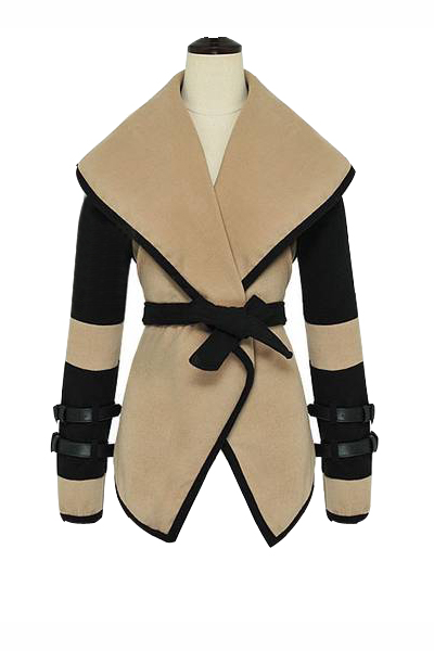 2015 Hot sale Turn Down Collar Stylish Coat