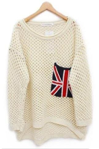 Fashion Cute Flag Women Sweater
