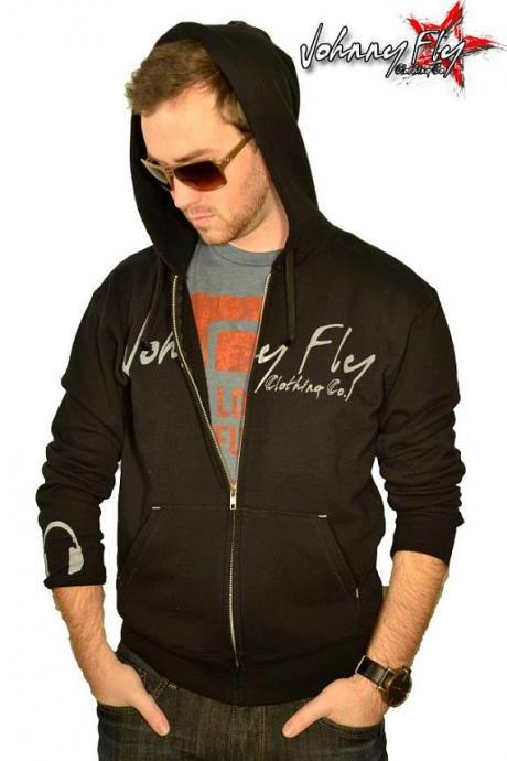 Mens Johnny Fly Signature Zip Hoodie