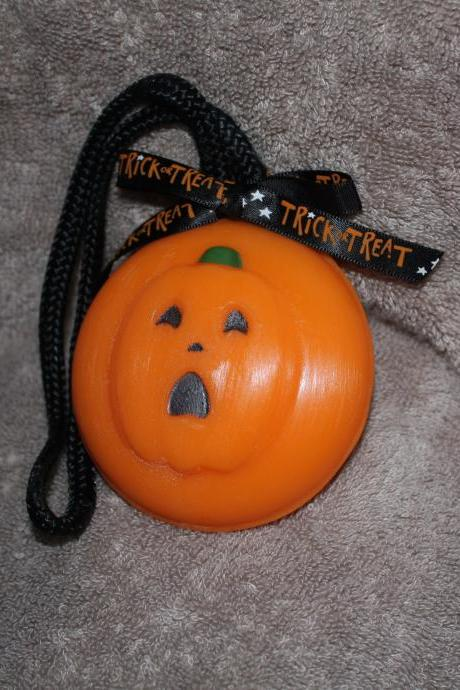 Jack O'Lantern Soap on a Rope