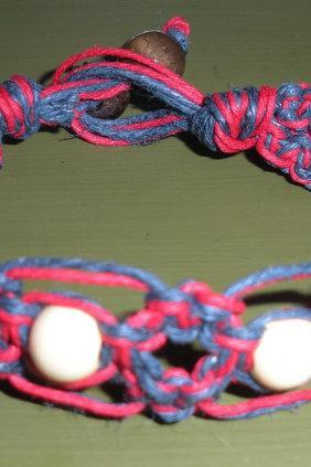 women's large patriotic hemp bracelet