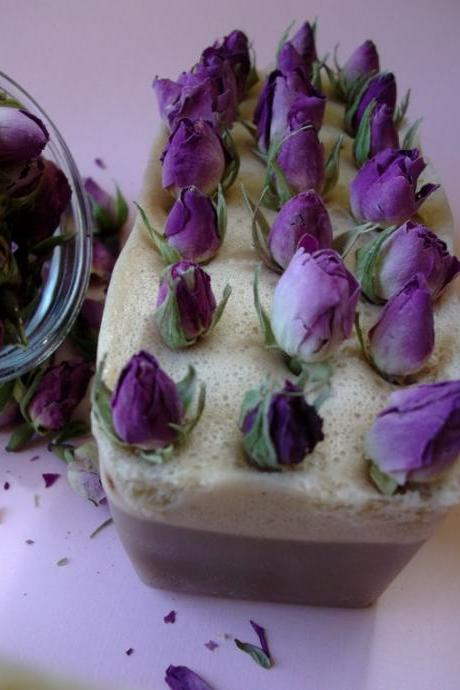 Green Tea & Rose Soap mini-loaf. Soap Art