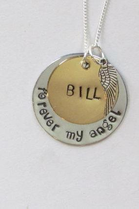 FOREVER MY ANGEL - Memory Necklace - Heaven - Hand Stamped Jewelry