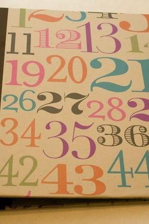 Numbers 3 ring Binder