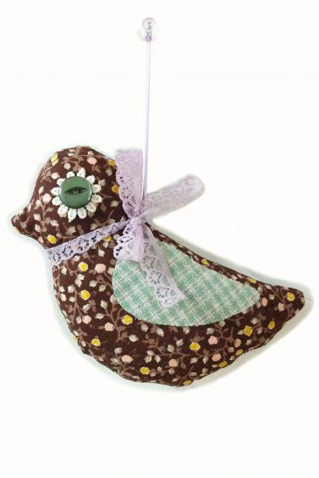 Floral decorative hanging bird