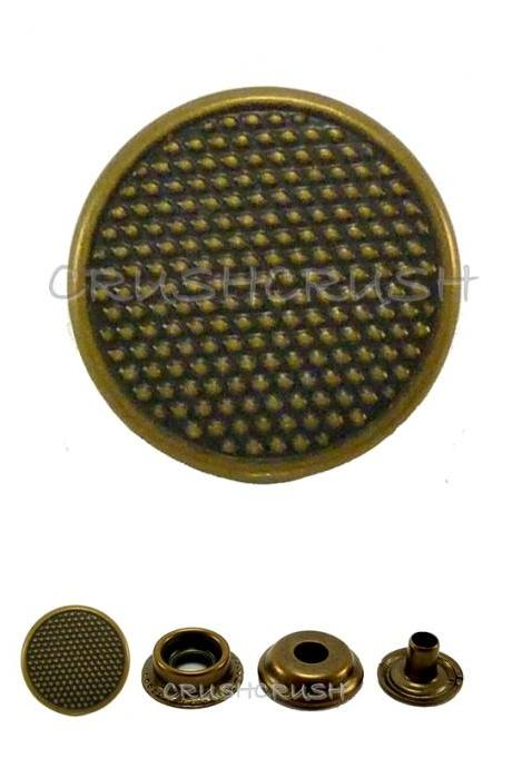 10sets 9/16' Cap - Ring Snap Buttons Fastener Made From Brass -- V9615