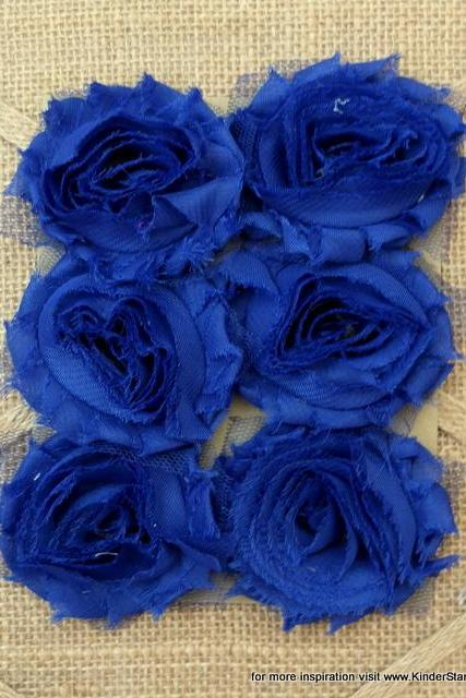 Six Shabby Chic Flowers - My Sailor (Navy Blue)