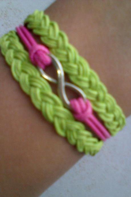 Invinity / Karma Braided Bracelet in Neon