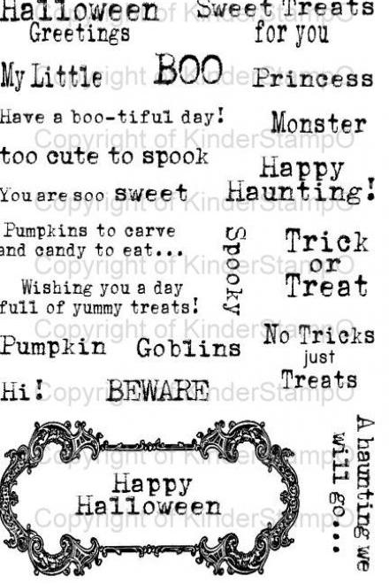 KinderStampO Photopolymer Stamp Set - Vintage Halloween