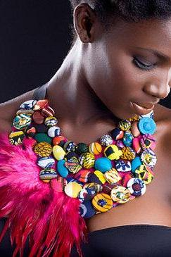 Bokoro - Gorgeous costumisable dashiki african necklace