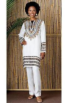 Berbérati - Gorgeous costumisable dashiki african trousers and blouse