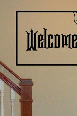 Welcome with Spider Web Removeable Vinyl Wall Decal 22206