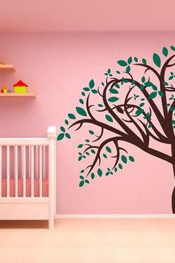 Large Tree with Leaves Vinyl Wall Decal Mural 22175