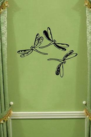 Wall Decal Dragonflies Vinyl Wall Decal 22076