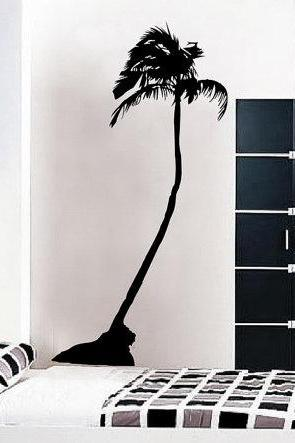 Tall Palm Tree Vinyl Wall Decal 22092