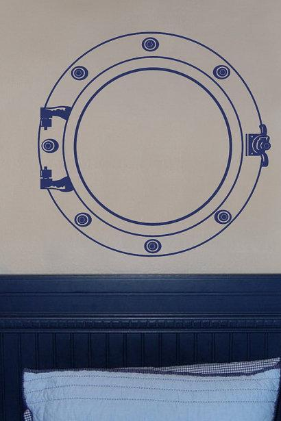 Porthole Nautical Vinyl Wall Decal 22094